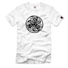 Celtic Round Chien Keltischer Knoten Kelten Germanen Wikinger T Shirt #1035
