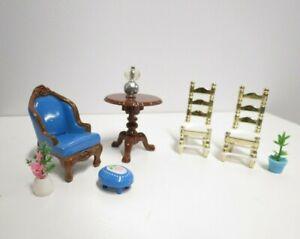 Lot of Vintage 1980 Mattel The Littles Doll House Furniture Metal & Plastic