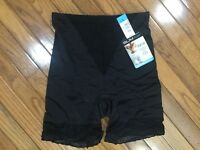 NWT Sears Slim Shape High Waist Thigh Slimmer 22050 Lace Black Sz XL    (C7-7)