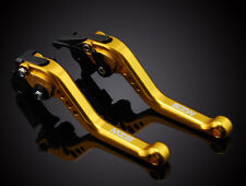 MZS Short Gold Brake Clutch Levers For Kawasaki ZX10R 04-05 Z1000 03-06 ZX12R