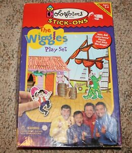 Colorforms Stick-Ons The Wiggles Play Set ~ Incomplete