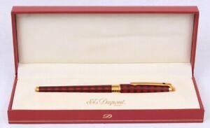 RARE NEW NOS S.T. Dupont Paris 18K Gold Olympio Roller Pen Vertigo Laque