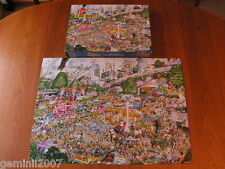 GIBSONS PUZZLE I Love Car Boot Sales - Mike Jupp 1000 Piece Jigsaw Complete  VGC