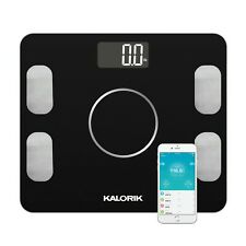 Kalorik Home Smart Electronic Body Analysis Scale, Black