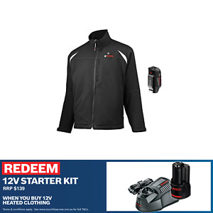 BOSCH Heated Jacket+FREE Battery and Charger (USB Electric GHJ 12+18V)