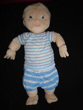 Neu Ikea Puppe Lekkamrat Stoffpuppe blond blau weiß Streifen 45cm Plüsch 094 Neu