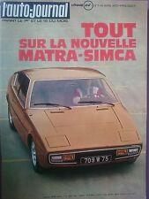L'AUTO JOURNAL 1973 7 MATRA BAGHEERA BMW 520i E12 RENAULT 5 TL MERCEDES 300 SL
