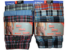 6 Pairs Mens Boxer Shorts Woven Cotton Rich Underwear Sizes S to 2xl (large)