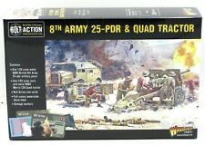 Bolt Action 402211001 8th Army 25-Pdr & Quad Tractor (British) WWII Artillery