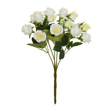 Mini Rosebud Artificial Flower Bunch x 15 heads 30cm/12 Inches White