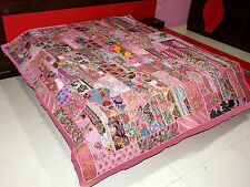 Bedspread Handmade Bohemian Patchwork Vintage Throw Bed Cover Cotton Tapestry
