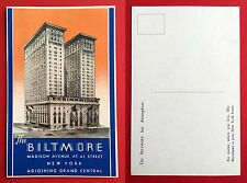 Reklame AK NEW YORK USA um 1930 The Biltmore Madison Avenue At 43 Street  ( 6102