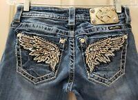 Miss Me Signature Boot Denim Jeans. Size 25 Rise 7 Waist 28X30L
