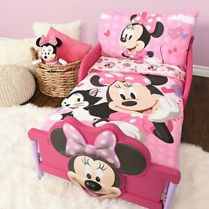 "Minnie Mouse Microfiber Kids Sheet Set Toddler 3 Pc Bedding Set 52"" x 28"""