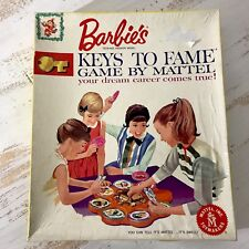 1963 Barbies Keys To Fame Game By Mattel Free Shipping