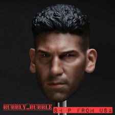"1/6 Punisher Head Sculpt Jon Bernthal For 12"" Hot Toys Male Figure USA IN STOCK"