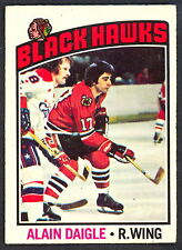 1976 77 OPC O PEE CHEE 156 ALAIN DAIGLE NM CHICAGO BLACK HAWKS HOCKEY CARD
