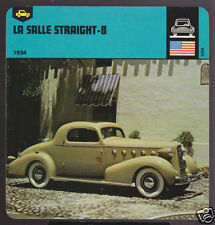 1934 LASALLE STRAIGHT-8 Eight Cadillac CAR PICTURE CARD