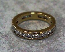 YG 18K Yellow Gold  2.1ct  21-Round Brilliant Cut Diamond Eternity Ring, G-H/VS