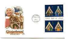 4817-20 Gingerbread Houses, Christmas 2013, on one ArtCraft FDC
