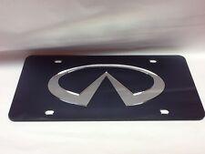 Infiniti License Plate Black/Silver NEW!!