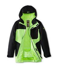 Boys Under Armour Cold Gear Infrared Hacker Waterproof Jacket Black Green XS 7