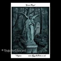 *GRAVE ANGEL* Goth Fantasy Art A4 Photo Print By Tatjana Willms