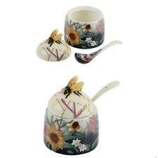 Old Tupton Ware Summer Bouquet Honey Pot & Spoon 14835
