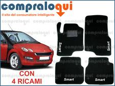 TAPPETI PER SMART FORFOUR TAPPETINI AUTO SU MISURA + 4 DECORI TOP RICAMATI