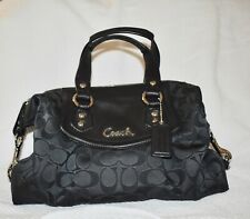 Coach Ashley New Black Scarf Print Handbag