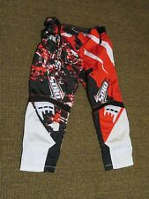 Youth Solo MX Gear Marshall Racing Motocross Pants Red/Black/White Size 26