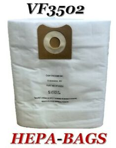 HEPA Replacement for Ridgid VF3502, 12-16 Gallon Wet/Dry Allergen Vacuum Bags