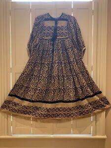 Handmade 70's Style Indian Gauze Maxi Dress Size M