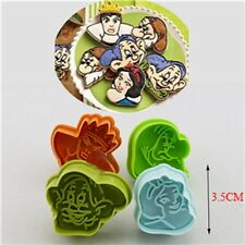 Cartoon 4x Snow White Story Series Fondant Cake Plunger Cutter Embosser Mold *KS