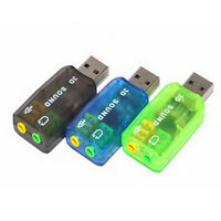 USB 2.0 External Balanced To 3D Virtual Audio PC Sound Card Adapter  5.1 Channel