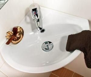 Keramik Eck- Waschtisch Waschbecken Handwaschbecken Gästebad Wandmontage 36x36