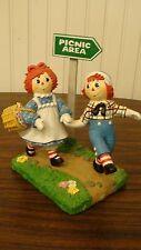"""The Danbury Mint Raggedy Ann & Andy """"Picnic Fun"""" 1999 Simon & Schuster, Inc"""