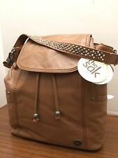 The Sak AVALON Tobacco Tan LEATHER 2 Way Convertible Backpack,NWT $199