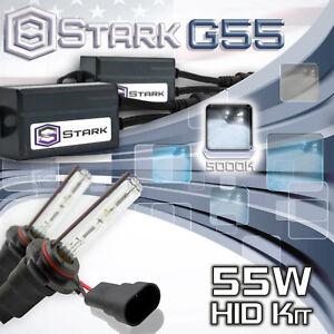 Stark 55W Micro HID High Beam Slim Xenon Kit - 9005 HB3 5K 5000K White (V)