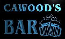 w023240-b CAWOOD Name Home Bar Pub Beer Mugs Cheers Neon Light Sign