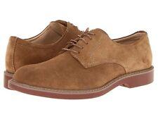 Bass Mens Pasadena Suede Plain Toe Lace Up Dress Oxford Shoes Taupe Size 15 D