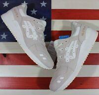 ASICS Womens Gel-Lyte lll 3 Running Casual Shoe Cream/White Leather [HL7E5-0000]