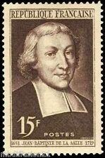 1951-TIMBRE FRANCE NEUF** SAINT JEAN BAPTISTE DE LA SALLE**STAMP - Yt. N° 882