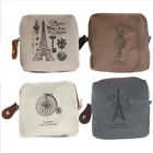 Cute Women Girl Canvas Zipper Coin Bag Purse Wallet Card Case Pouch Handbag Gift