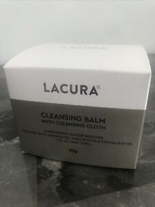 Aldi Lacura Cleansing Balm & Cleansing Cloth with Moringa Oil 90g Brand New