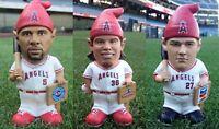 Albert Pujols Gnome Jered Weaver Gnome Mike Trout Gnome Lot of 3 LA Angels SGAs