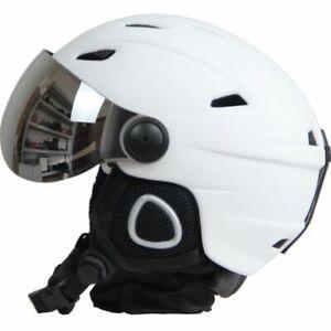 Half-covered Ski Helmet With Goggles Visor Snowboard Helmet Winter Snow Sled