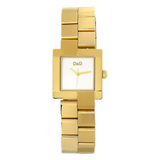 D&G Dolce & Gabbana DW0398 Promenade Armbanduhr Damen, Edelstahl, Gold - Neu
