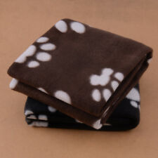 Winter Dog Cat Bed Mat Pet Cushion Blanket Warm Paw Print Puppy Cat Fleece Pads