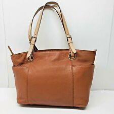 Michael Kors Brown Pebbled Leather Tote Bag Purse Satchel